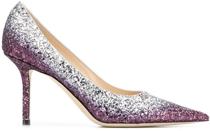 Love 85mm glitter pumps