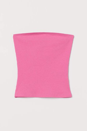 Ribbed Tube Top - Pink