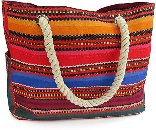 Odyseaco Baja Beach Bag, Waterproof Beach Bag, Canvas Tote, Beach Tote, Beach Gear, Beach Essentials, Pool Bag, Large Beach Tote
