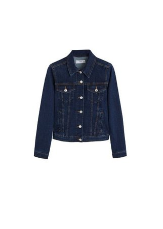 MANGO Pocketed denim jacket