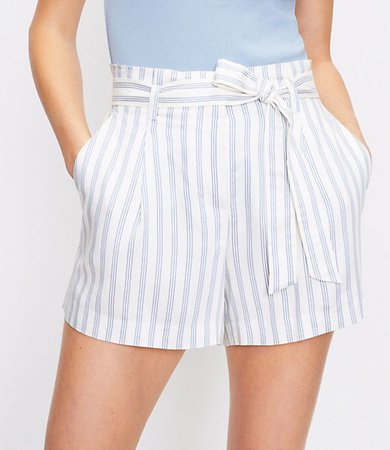 The Paperbag Pull On Short in Stripe