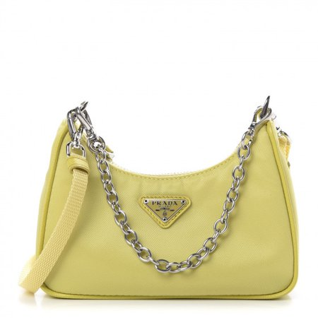 PRADA Tessuto Nylon Mini Re-Edition 2000 Shoulder Bag Yellow 594216