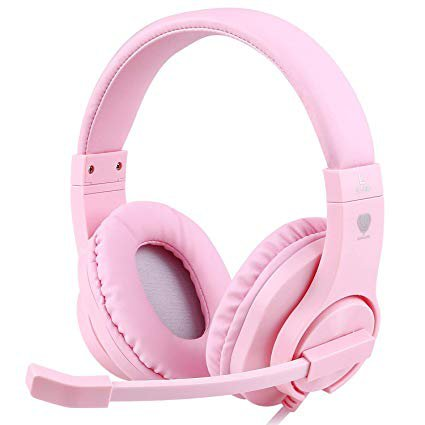 Amazon.com: Meedasy Over-Ear Gaming Headphone for Xbox One, Nintendo Switch, Bass Surrounding Stereo, PS4 Gaming Headset with Microphone and Volume Control for Laptop, PC, Wired Noise Isolation (Pink): Computers & Accessories