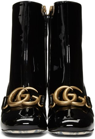 Gucci Black Victoire Boots