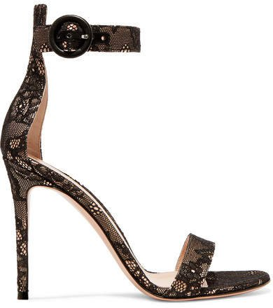 Portofino 105 Lace Sandals - Black