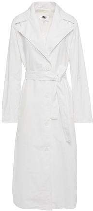 Belted Cotton-poplin Trench Coat