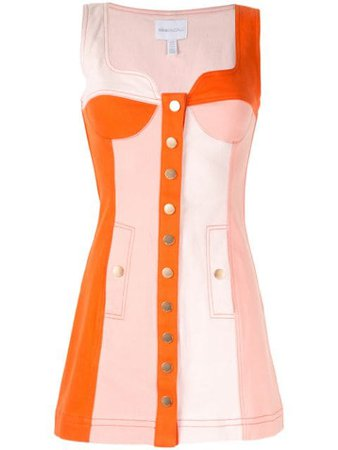 Orange Alice Mccall Chelsea Hotel Panelled Mini Dress | Farfetch.com