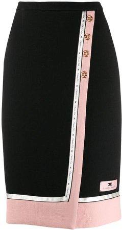wrap-around pencil skirt