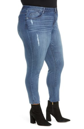 Wit & Wisdom Luxe Touch Ab-Solution Ankle Straight Leg Jeans (Plus Size) (Nordstrom Exclusive)   Nordstrom