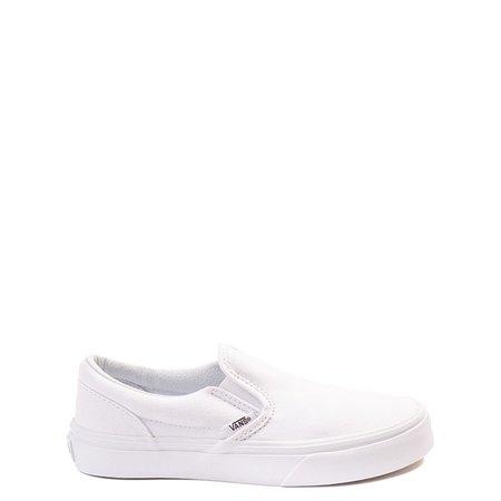 Vans Slip On Skate Shoe - Little Kid - White | Journeys