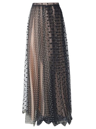 N.21 Polka Dot Sheer Long Skirt