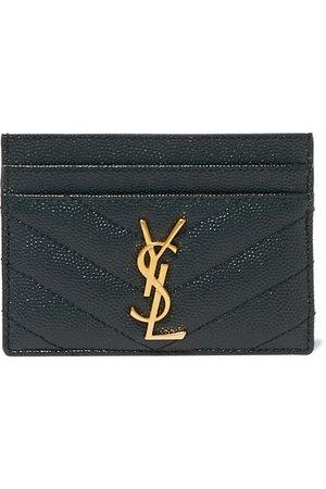 Saint Laurent | Quilted textured-leather cardholder | NET-A-PORTER.COM