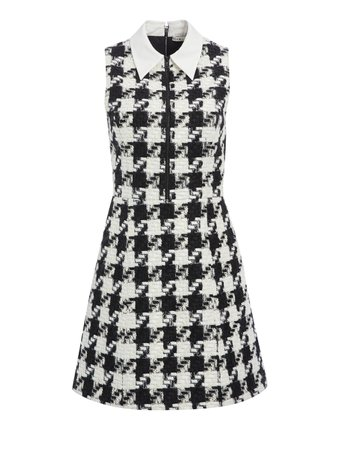 ELLIS HOUNDSTOOTH MINI DRESS | Alice + Olivia