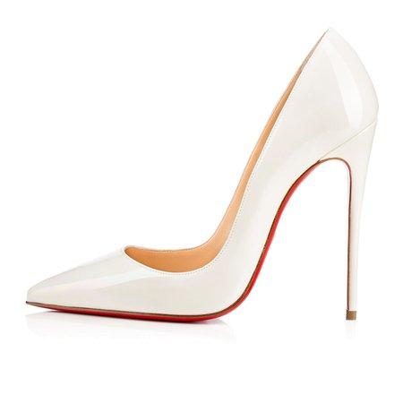 Christian Louboutin — So Kate 120 White Aurora Boreale Patent Leather