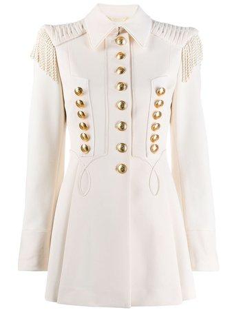 White Alberta Ferretti Military Jacket   Farfetch.com