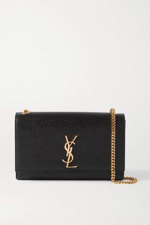 Kate Textured-leather Shoulder Bag - Black