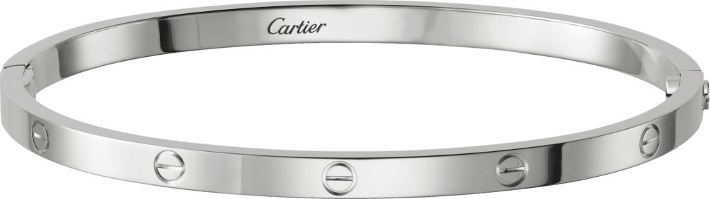 Cartier White gold love bracelet