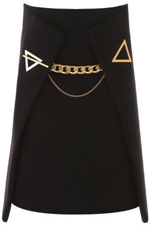 Bottega Veneta Chain Cashmere Skirt