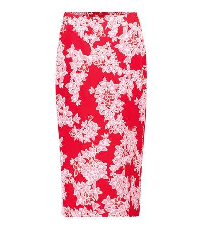 Diane von Furstenberg - Kara floral cady pencil skirt | Mytheresa