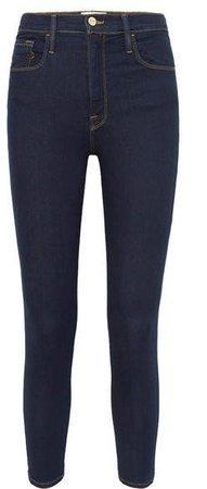 Ali High-rise Skinny Jeans - Dark denim