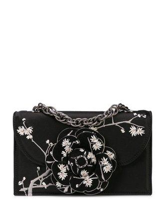 Oscar De La Renta Tro Embroidered Shoulder Bag Ss20   Farfetch.com