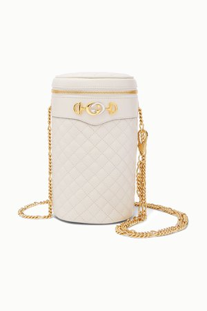 White Trapuntata quilted leather belt bag   Gucci   NET-A-PORTER
