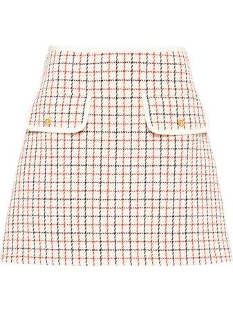 Miu Miu, Checked Mini Skirt