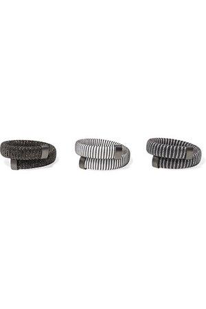 Carolina Bucci | Caro set of three blackened sterling silver, cotton and Lurex bracelets | NET-A-PORTER.COM