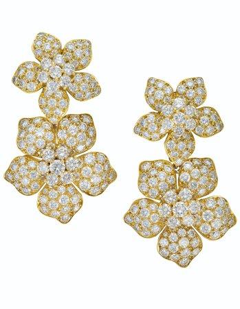 DIAMOND FLOWER EARRINGS, VAN CLEEF & ARPELS