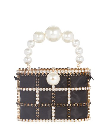 Rosantica Holli Cage Pearl and Crystal Clutch   INTERMIX®
