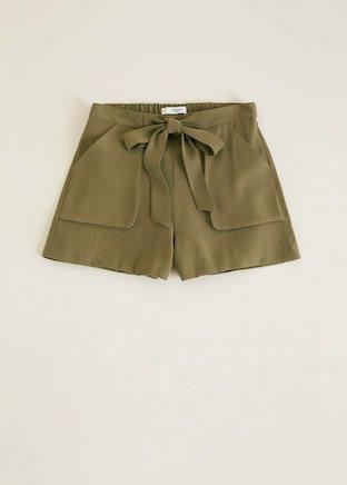 Bow flowy shorts - f foShorts Woman | MANGO Indonesia