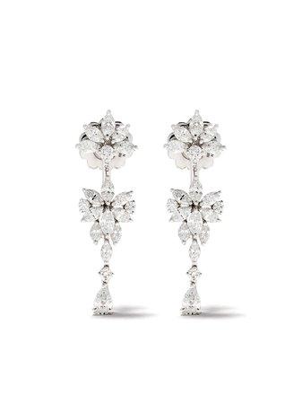Yeprem Orecchini Pendenti In Oro Bianco 18kt Con Diamanti - Farfetch
