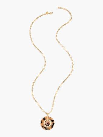 Blush Tortoise Pendant Necklace | Talbots