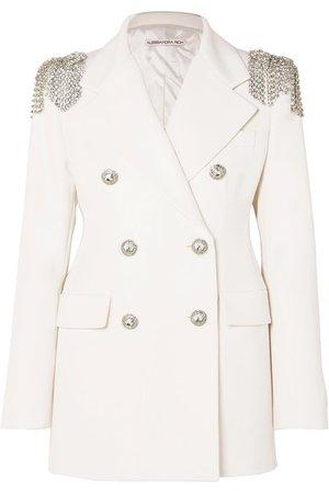 Alessandra Rich | Crystal-embellished wool-crepe blazer | NET-A-PORTER.COM