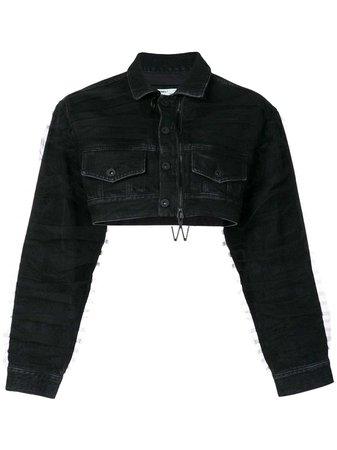 Off-White Cropped Denim Jacket - Farfetch