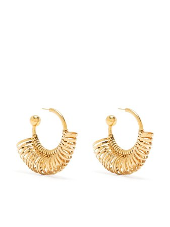 Shop gold Jacquemus multiring hoop earrings with Express Delivery - Farfetch