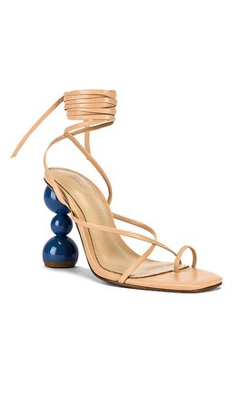 Song of Style Gelato Heel in Nude   REVOLVE