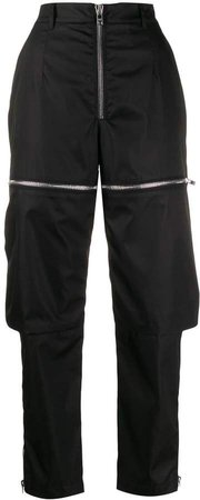 zipped cargo trousers