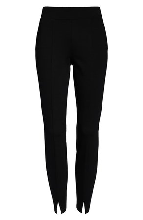 NYDJ Slit Hem Leggings (Regular & Petite)  black