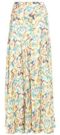 Printed Satin Maxi Skirt