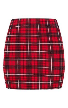 Tartan Check Print Mini Skirt   Skirts   PrettyLittleThing