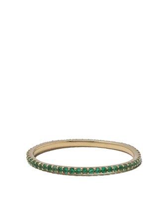 White Bird 18kt Yellow Gold Emerald Solange Ring - Farfetch