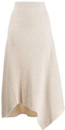 knitted asymmetric skirt