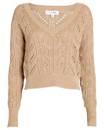 INTERMIX Private Label Cropped Cotton Sweater | INTERMIX®