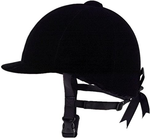 Amazon.com : UNISTRENGH Equestrian Hat Helmet Black Velvet Comfy Horse Riding Hats Breathable Horse Riding Helmets for Womnes, Girls, Toddlers : Sports & Outdoors