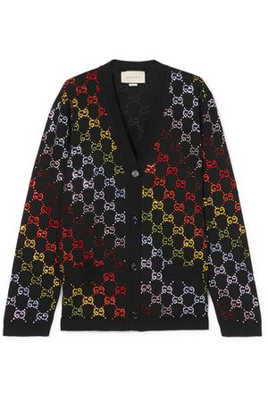Gucci   Crystal-embellished wool cardigan   NET-A-PORTER.COM
