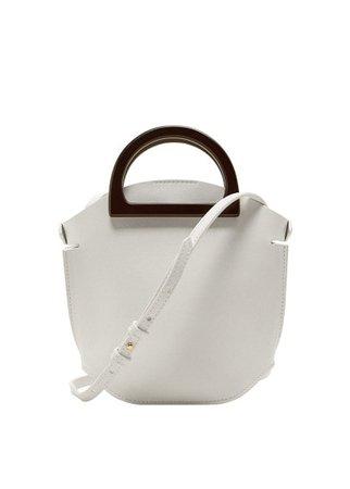 MANGO Wooden handle mini bag
