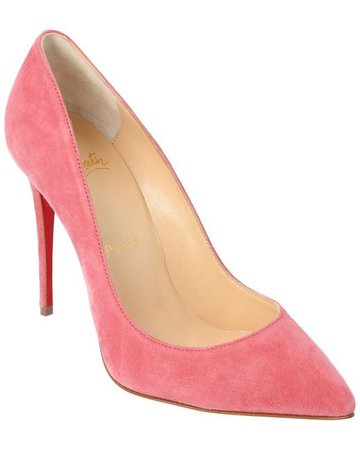 Christian Louboutin Pigalle Follies 100 Suede Pumps in Pink - Save 31% - Lyst