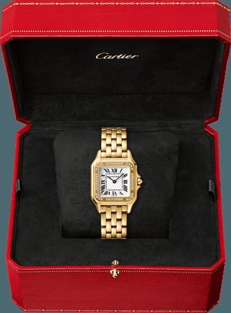 CRWJPN0016 - Panthère de Cartier watch - Medium model, yellow gold, diamonds - Cartier