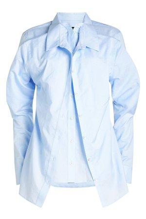 Double Layered Cotton-Linen Shirt Gr. L